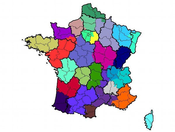 Figure 3 – French 'Telephone Areas'